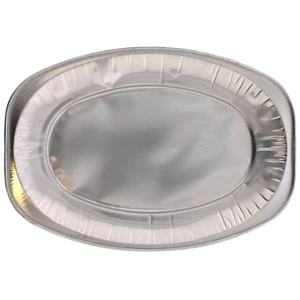 Small Oval Foil Platters - 14 Inches / 35cm - Pack of 100