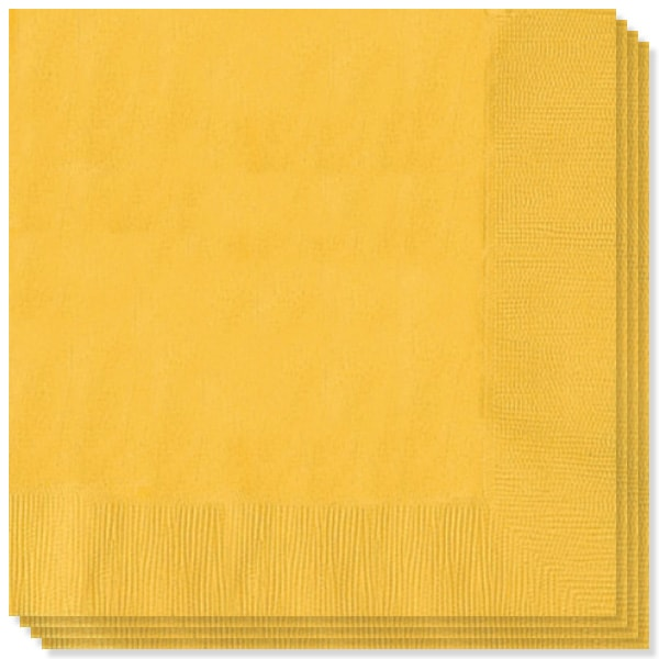 Yellow Sunshine 2 Ply Napkins 13 Inches / 33cm  Pack of 20