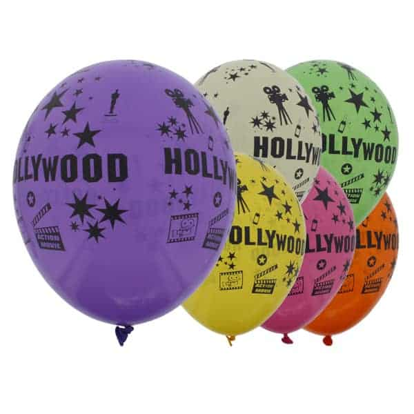 Latexballons Hollywood Thema 30cm