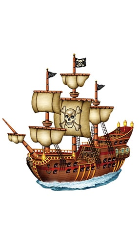 Piratenschiff Figur