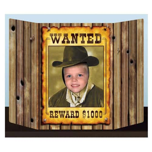 Wanted' Western-Poster Fotoständer