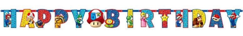 Super Mario Jointed Brief Banner - 160cm