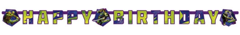 Teenage Mutant Ninja Turtles alles Gute zum Geburtstag Brief Banner - 180cm