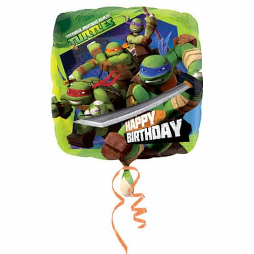 Teenage Mutant Ninja Turtles Alles Gute zum Geburtstag Quadrat Folienballon - 43cm