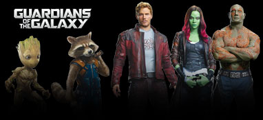 Guardians Of The Galaxy lebensgroße Pappfigur