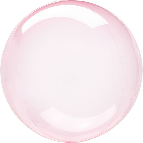 Dunkelrosa Kristall Clearz Bubble Heliumballon 46 Cm / 18 In