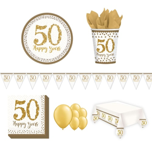 50. Goldene Hochzeitstag 8 Person Deluxe Party Pack