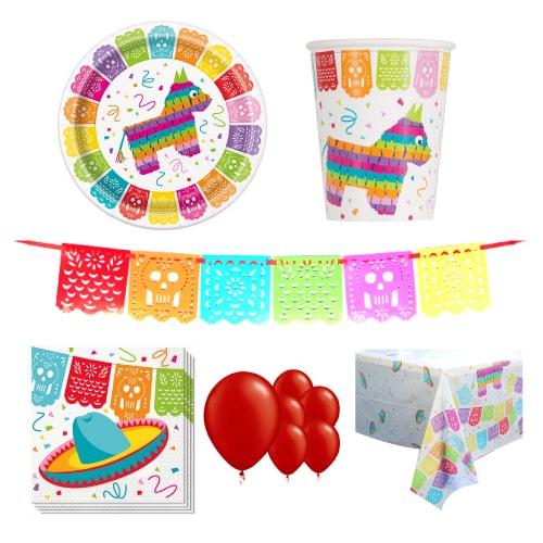 Mexikanische Fiesta 8 Personen Deluxe Party Pack