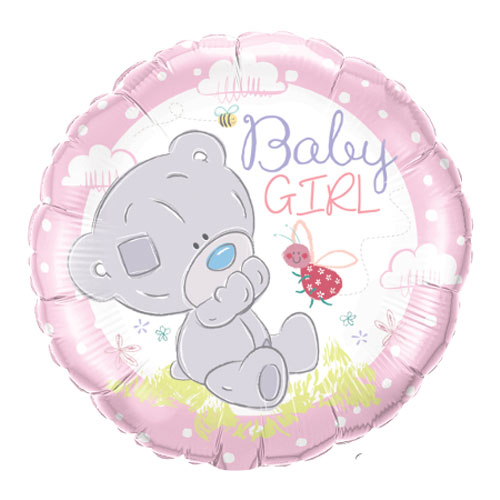 Baby Teddy Runde Folie Helium Qualatex Ballon 46Cm / 18 En