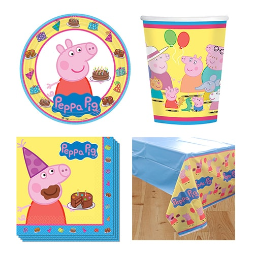 Peppa Pig Theme 8 Personen Preis-Party-Pack