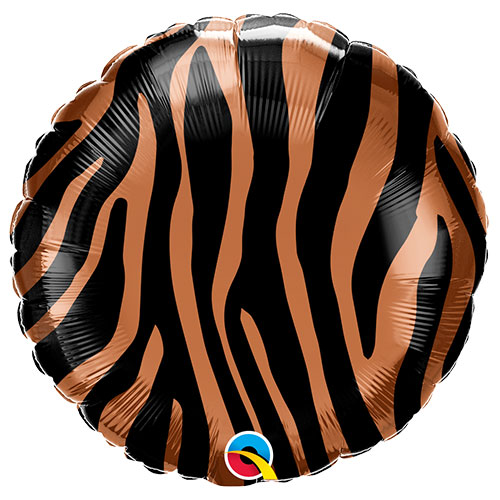 Tiger Streifen Muster Folie Helium Qualatex Ballon 46 Cm