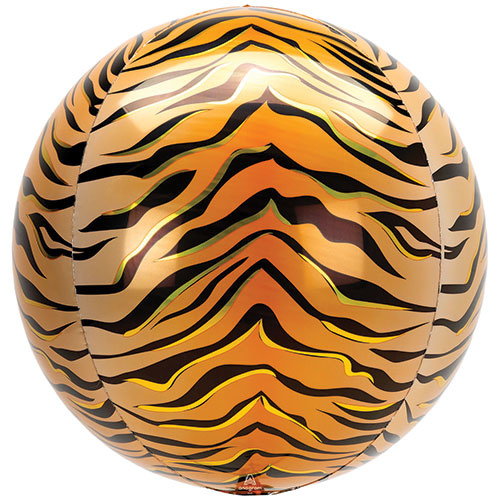 Animalz Tigerdruck Orbz Folie Heliumballon 38 Cm / 15 In