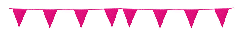 Hot Pink Glitter Pappe Wimpel Ammer 6M