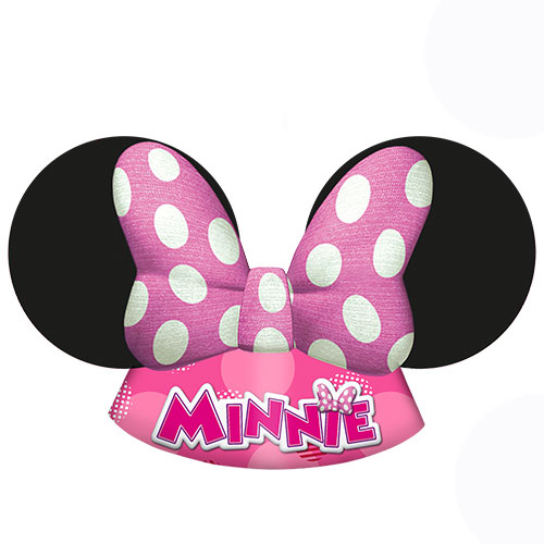 Disney Minnie Mouse Party Gestanzte Hüte - 6Er Pack