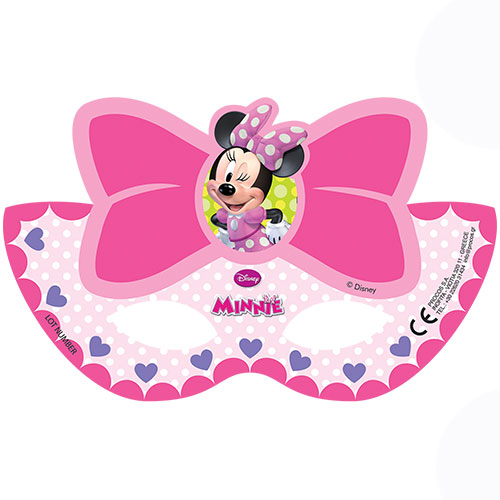 Disney Minnie Mouse Party Gesichtsmasken - 6Er Pack