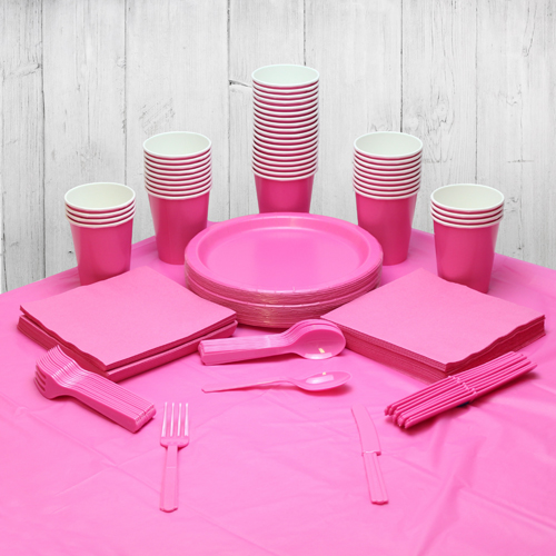 Pink 56 Personen Party Pack