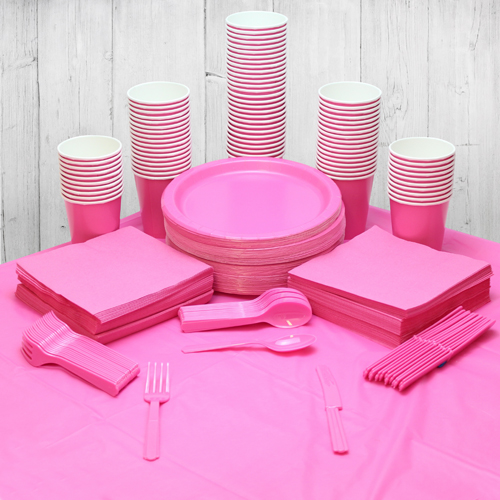 Pink 98 Personen Party Pack