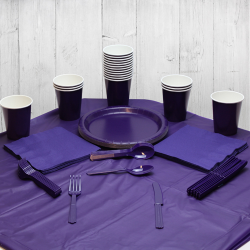 Lila 14 Personen Party Pack