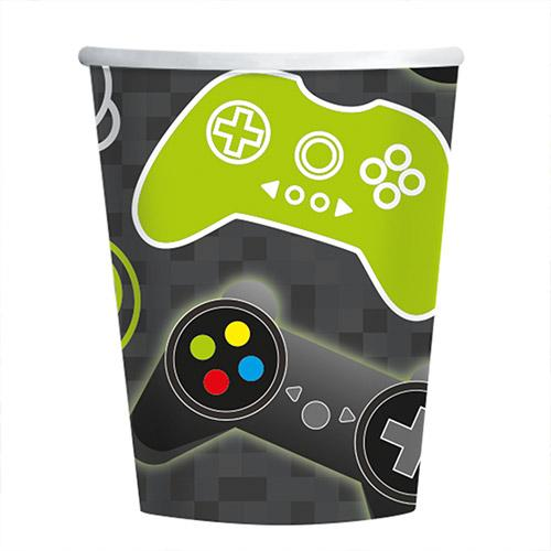 Level Up Gaming Pappbecher 250Ml - Packung Mit 8