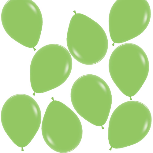 Fashion Solid Lime Green Biologisch Abbaubare Mini Latex Ballons 13Cm / 5 In - Packung Mit 100